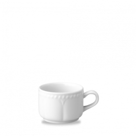 Buckinham Blanco Taza Apilable de Té 7.5Oz Paq 24