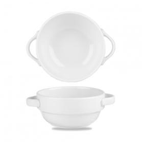 Blanco Bol / Bowl Apilable con Asa 14Oz Paq 6