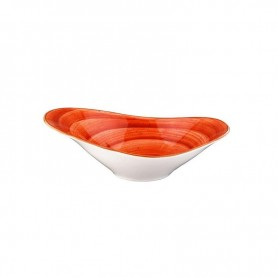 Bowl Oval 27x18 Cm Terracotta