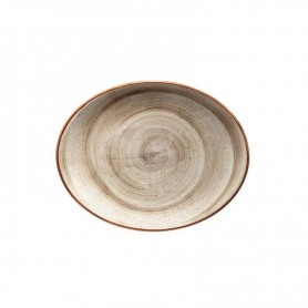 Bandeja Oval 31x24 Cm Terrain Brown