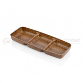 Bandeja Rectangular 3 Compart. Ps 26X10X2
