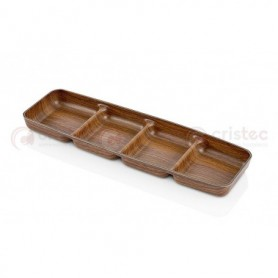Bandeja Rectangular 4 Compart. Ps 33X10X2