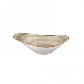 Bowl Oval 27x18cm Terrain Brown