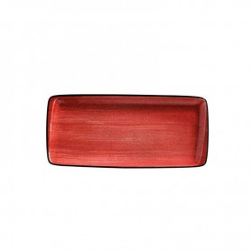 Bandeja Rectangular 34 X 15 Cm Passion Moove Red